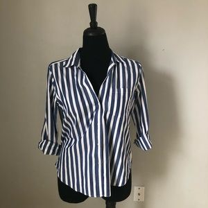 Gap Vertical Stripe Button Up sz M
